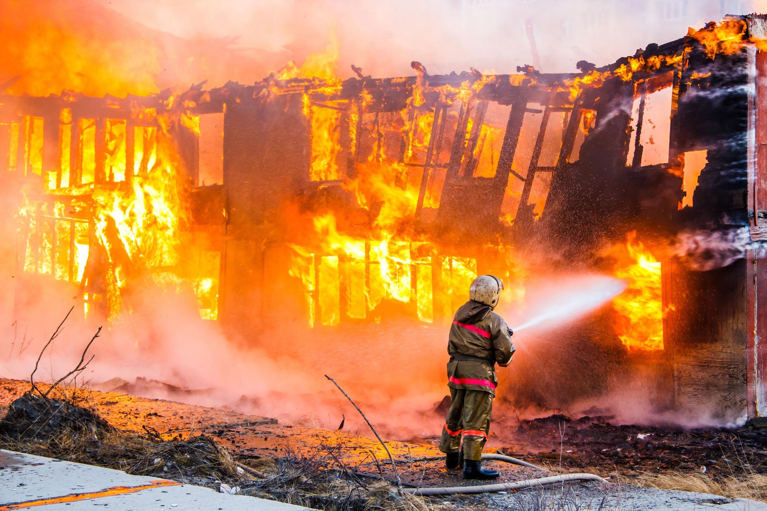 home oxygen fire